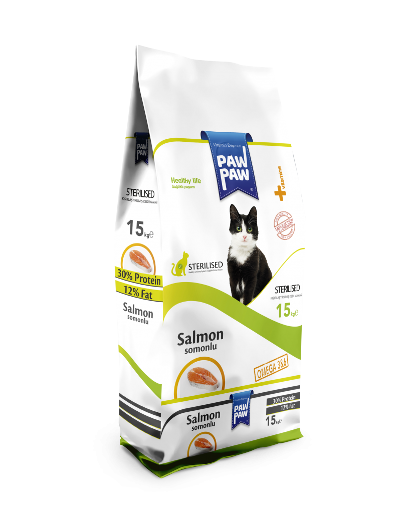 Paw Paw Sterilized Cat Food (Salmon)