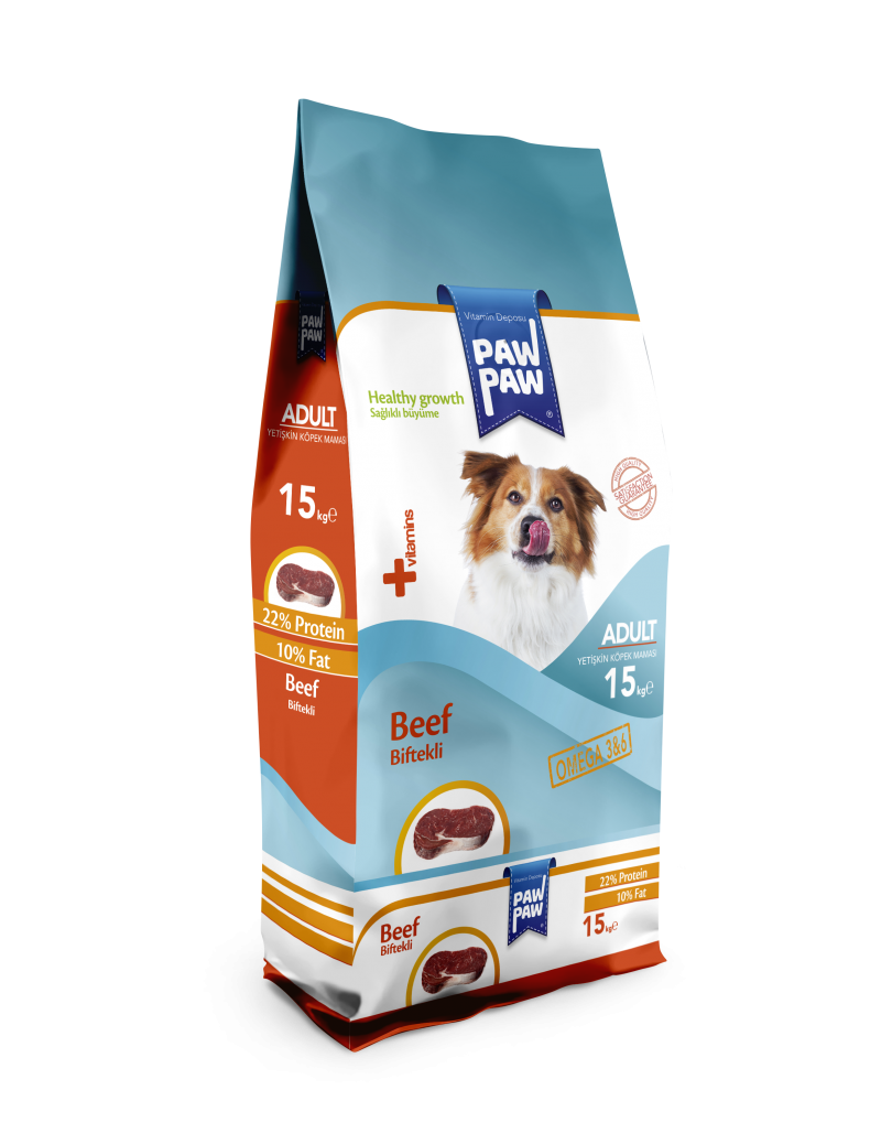 PawPaw Adult Dog Food (Beef)