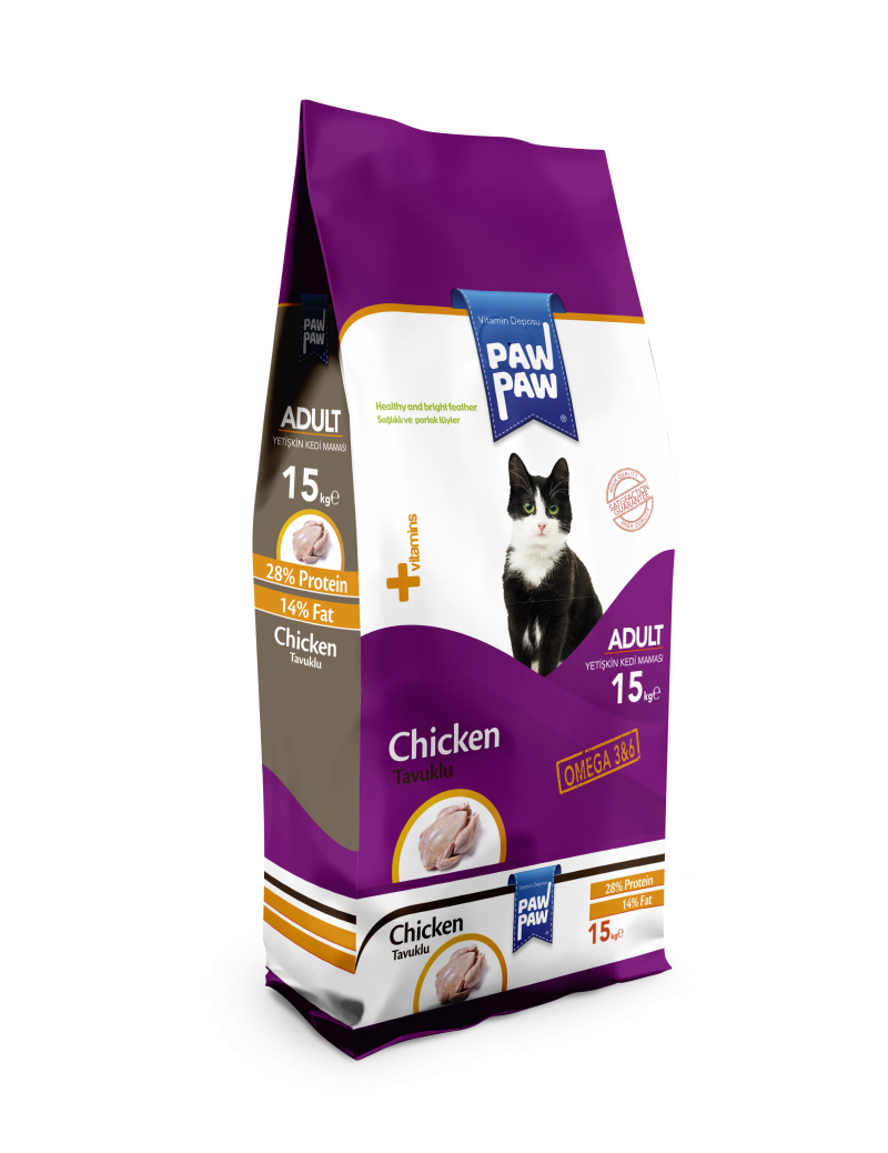 Paw Paw Adult Cat Food (Chicken)