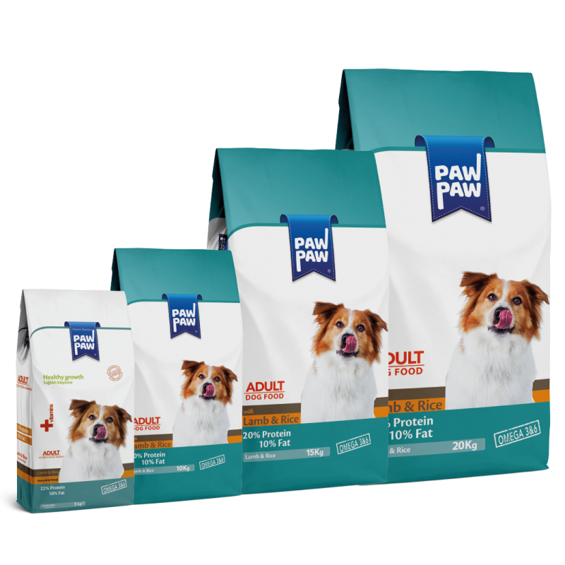 Pawpaw Food with Lamb and Rice for Adult Dogs