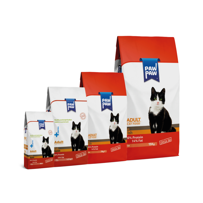 Pawpaw Food with Fish for Adult Cats