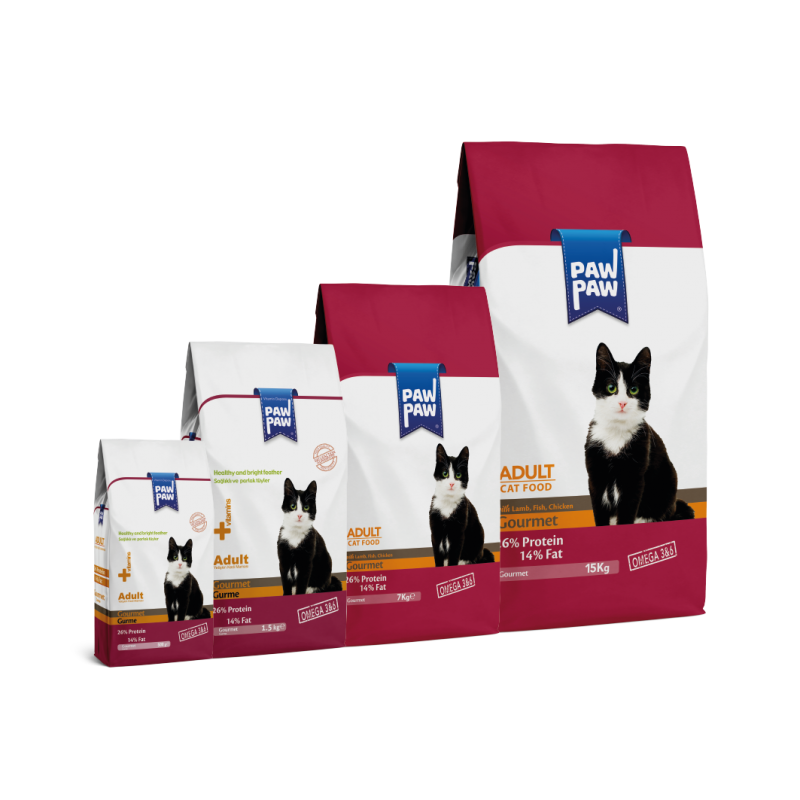 Pawpaw Gourmet Food for Adult Cats